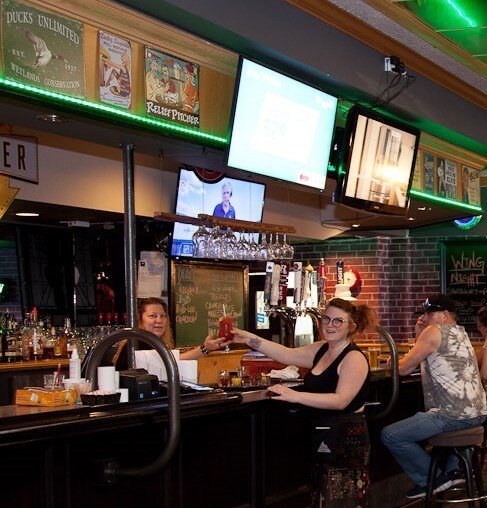 View of bar at Clancy's Pub